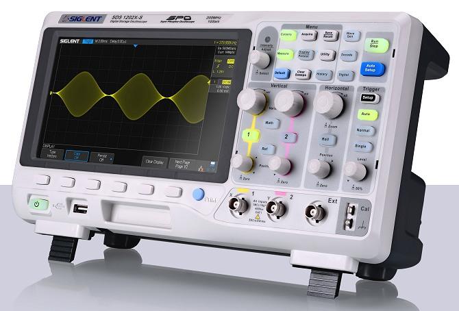 Siglent SDS1102X & SDS1000X Serie Oszilloskop schr?g von der Seite